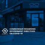 Communiqué regarding government directives on covid-19